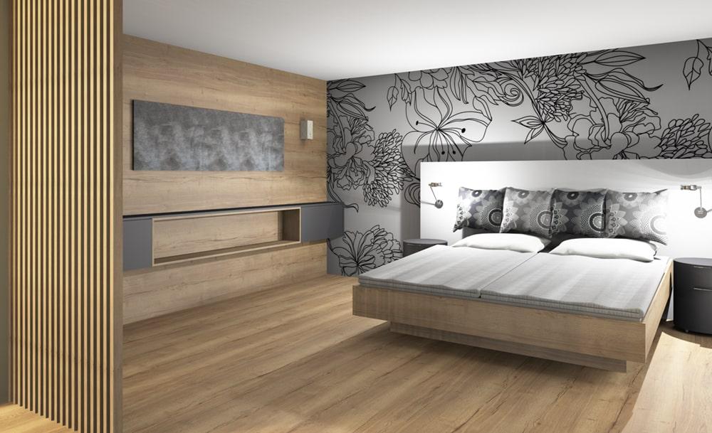 3D Visualisierung Schlafzimmer - Schreiner
